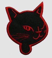 Cat head black-red animal extra big