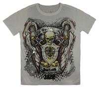 Front - Skull shield white minute mirth