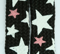 Stars BS black-white-pink star shoelace