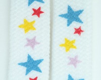 Star S white color star shoelace