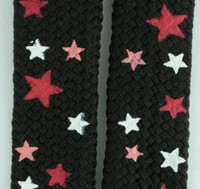 Star S black-D pink-WH star shoelace