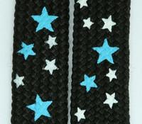 Star S black-blue-white star shoelace