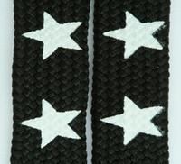 Star big black-white star shoelace