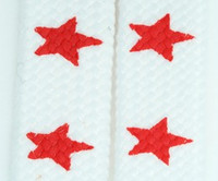 Star big white-red star shoelace
