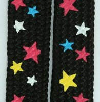 Star S black color star shoelace