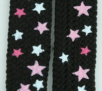 Star S BL-L pink-WH star shoelace