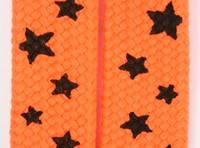 Star S orange-black star shoelace
