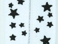 Star S white-black star shoelace