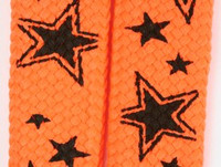 Star line orange star shoelace