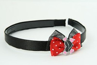 Black-Red / heart bone black-pink red bow & sweet