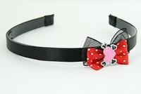 Black-Red / heart bone pink-black red bow & sweet