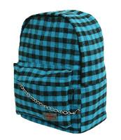 Check blue C check rucksack