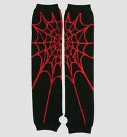 Spiderweb red arm warmers accessory