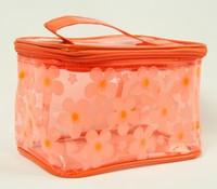 Flower orange toiletry bag