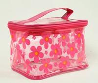 Flower D-pink toiletry bag