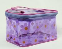 Flower purple toiletry bag