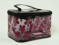 Flower black toiletry bag