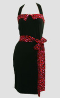 Front - Leopard red belt pin up
