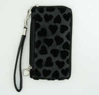 Heart black mobile bag