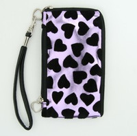 Heart purple mobile bag
