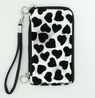 Heart silver mobile bag