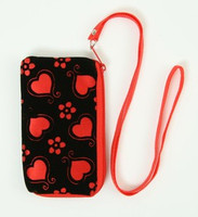 Heart flower red mobile bag