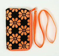 Flower orange mobile bag