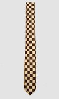 Check S black-white necktie accessory