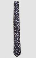 Stars black-white necktie accessory