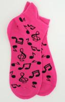 Music pink socks accessory