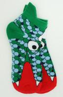 Monster green-blue socks accessory