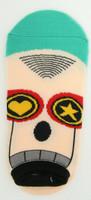 M heart star eye socks accessory