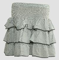 Mini skirt sailor dot white-black sailor mini skirt