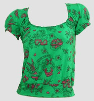 Front - OIB diva green H top diva