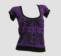 Front - OIB punk flower purple top diva top