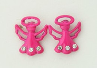 C angel pink colorful stud