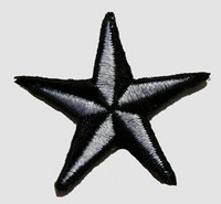 S 3D star black-white