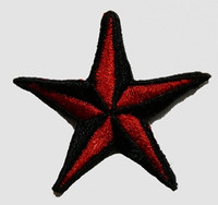 S 3D star black-red