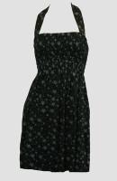 Front EB stars black-grey elastic dress