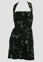 Front EB diva black-grey elastic dress