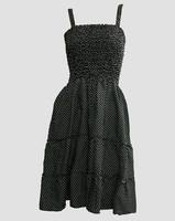 EB dot black-white elastic dress