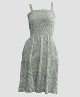 EB dot white-black elastic dress