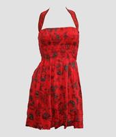 Font EB diva red elastic dress