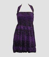 Front EB punk flower purple elastic dress