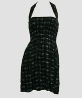 Front EB swallow black-grey elastic dress
