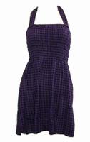 Front EB classic purple elastic dress