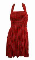 Front EB classic red elastic dress