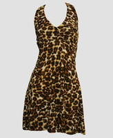 Front - S marilyn monroe leopard brown sexy dress