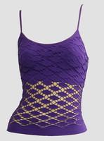 Front - Fish purple top net top