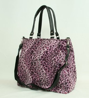 Leopard pink fashion fluffy bag